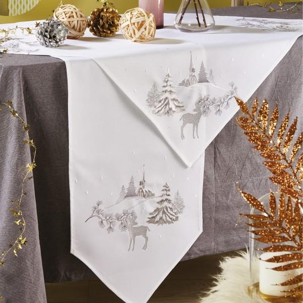 Χριστουγεννιάτικο Τραπεζομάντηλο 140x180 White Egg 16516-W White Egg - 1