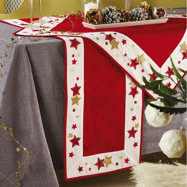 Χριστουγεννιάτικη Τραβέρσα 40x180 White Egg 17592-R White Egg - 1