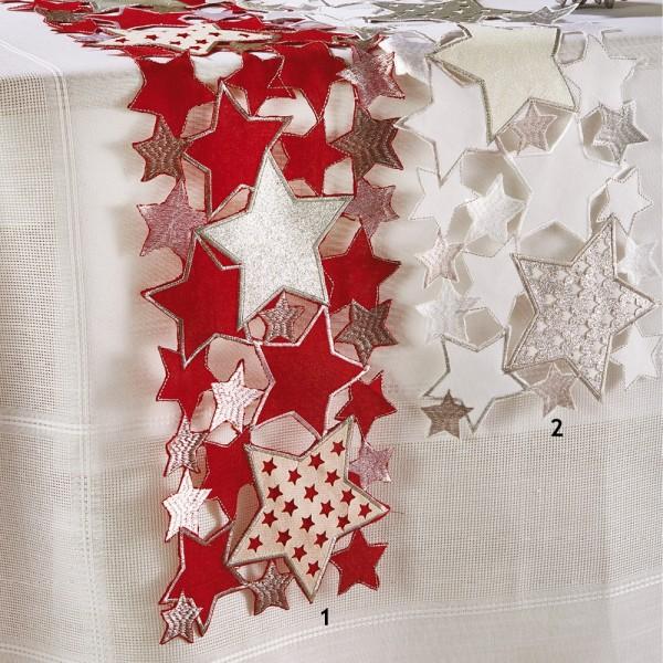Χριστουγεννιάτικη Τραβέρσα 20x160 White Egg 18728 White Egg - 1