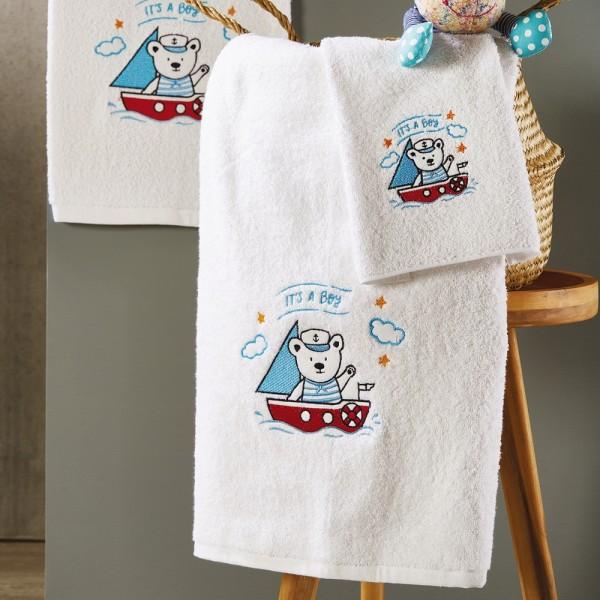 Πετσέτες Παιδικές Σετ 3Τμχ White Egg SP43 White Egg - 1