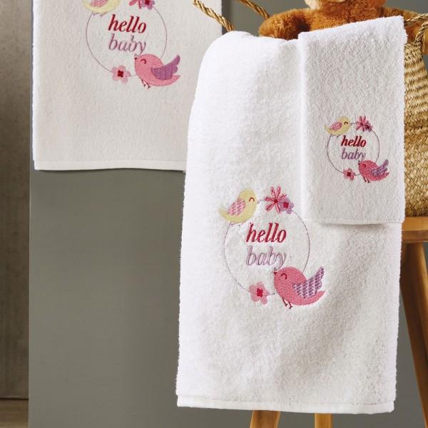 Πετσέτες Παιδικές Σετ 3Τμχ White Egg SP47 White Egg - 1