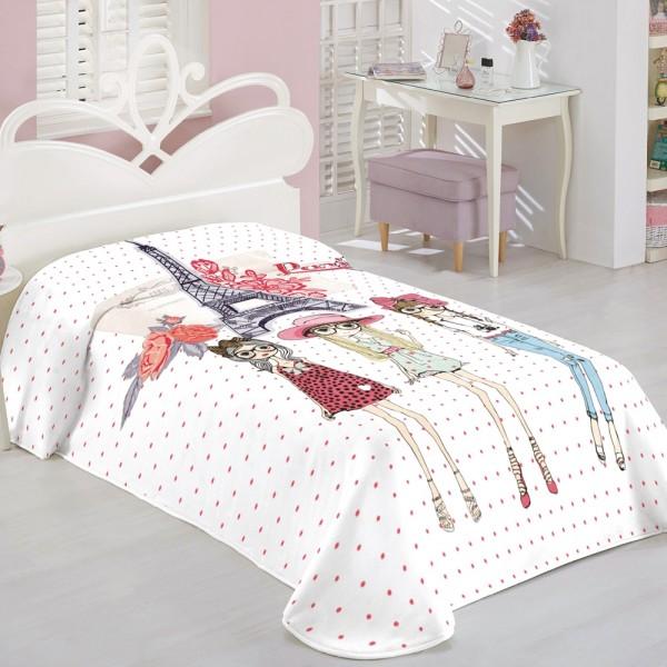 Κουβέρτα Βελουτέ Παιδική 160x240 White Egg ΚΒ47 White Egg - 1