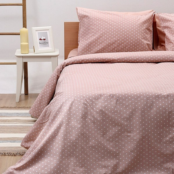Παπλωματοθήκη Διπλή Σετ 195x240 Cotton Feelings 5416 Pink Sunshine - 1