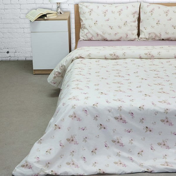 Σεντόνια Διπλά Σετ 200x265 Cotton Feelings 2030 Pink Sunshine - 1