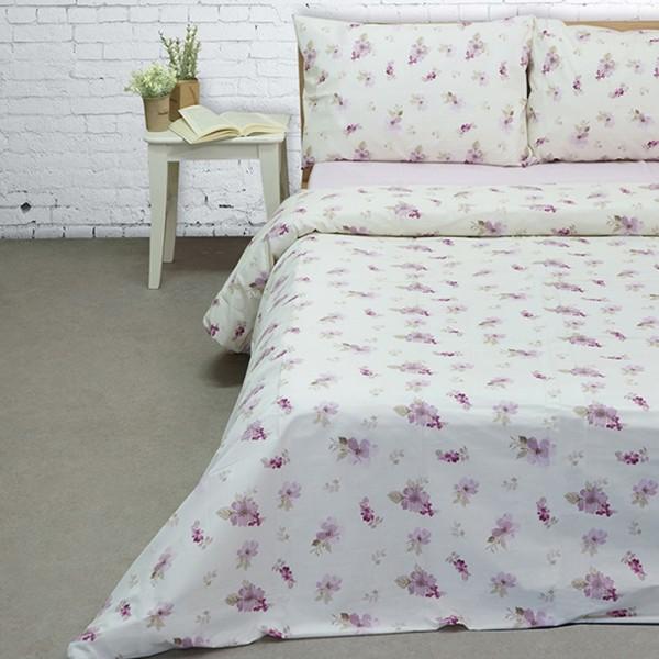 Πάπλωμα King Size Σετ 255x260 Cotton Feelings 2030 Lilac Sunshine - 1