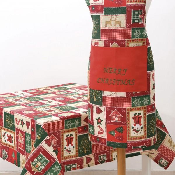 Χριστουγεννιάτικη Ποδιά Με Κέντημα Ilis Home Natividad Verde Ilis Home - 1