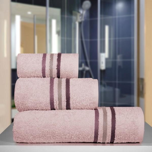 Πετσέτα Χεριών 30x50 Milena Old Pink Lino - 1