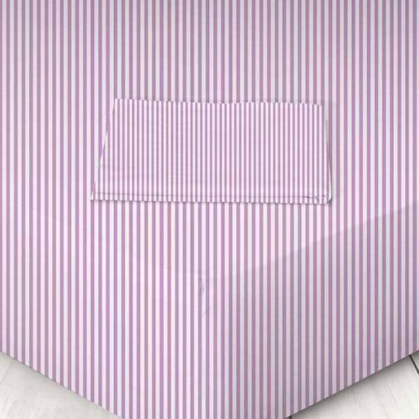 Σεντόνι Μεμονωμένο Μονό 160x250 Χωρίς Λάστιχο 711605620 026 Ριγέ Μωβ Marwa - 1