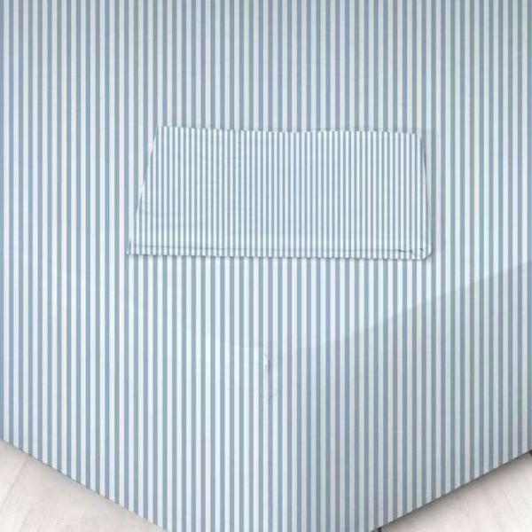 Σεντόνι Μεμονωμένο Μονό 160x250 Χωρίς Λάστιχο 711605620 024 Ριγέ Μπλε Marwa - 1