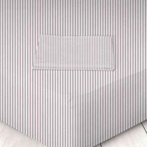 Σεντόνι Μεμονωμένο Μονό 160x250 Χωρίς Λάστιχο 711605620 023 Ριγέ Albergine Marwa - 1